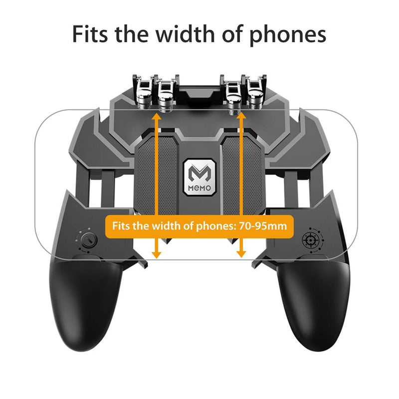 AK66 Six Fingers PUBG Game Controller Gamepad Metal Trigger Shooting Free Fire Gamepad Joystick For IOS Android Mobile Phone - TUZZUT Qatar Online Store