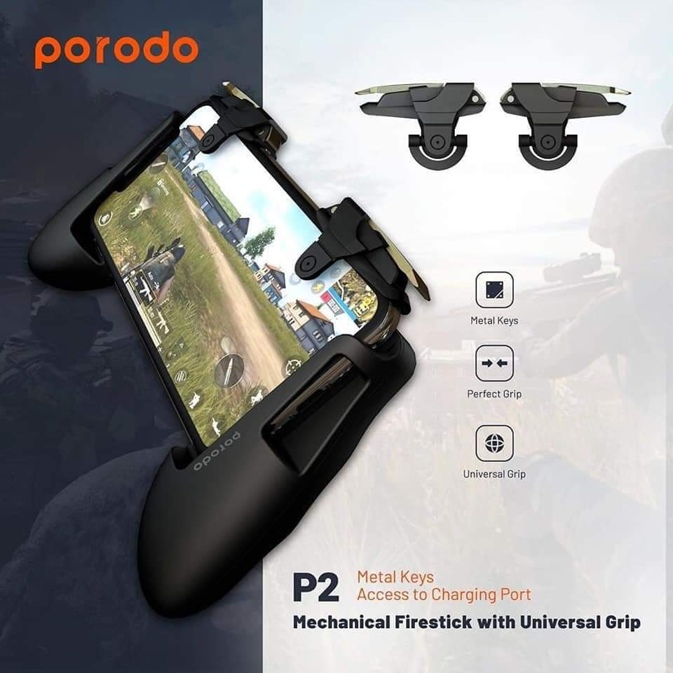PORODO P2 Mechanical Firestick Triggers with Universal Grip for Mobile Phone - TUZZUT Qatar Online Store