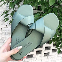 Load image into Gallery viewer, Women's Korean-style Flat Top Cross-Tied Round Toe Slipper - TUZZUT Qatar Online Store