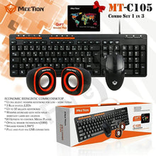 Load image into Gallery viewer, Meetion C105 - 3 in 1 Standard Keyboard, Mouse and Speaker Combo Set - TUZZUT Qatar Online Store