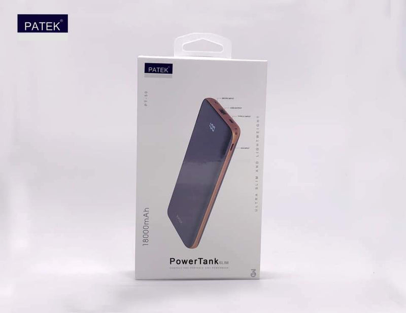 PATEK PowerTank Slim 18000mAh Powerbank - Ultra Slim & Lightweight - TUZZUT Qatar Online Store