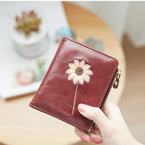 Fashion Women Short Embroidery Japanese Style Photo Holder Cards Wallet -  OLF-24134 - TUZZUT Qatar Online Store