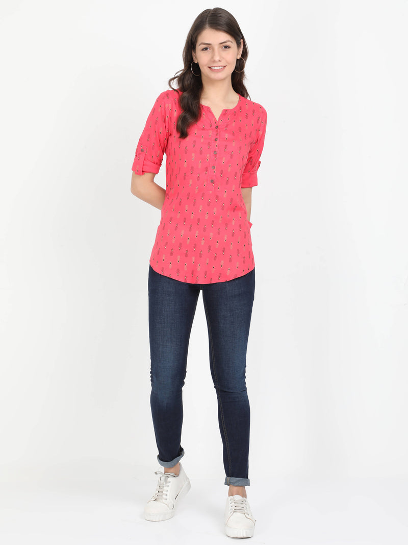 Women Red Casual Top - TUZZUT Qatar Online Store