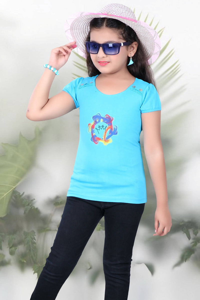Knitted Girls T-Shirt - TUZZUT Qatar Online Store