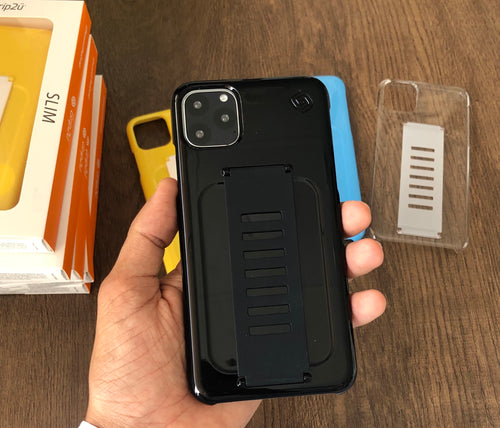 Grip2ü Slim Phone Grip Case Cover - Black (iPhone 11 Pro/iPhone 11 Pro Max) - TUZZUT Qatar Online Store