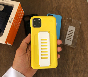 Grip2ü Slim Phone Grip Case Cover - Yellow (iPhone 11 Pro/iPhone 11 Pro Max) - TUZZUT Qatar Online Store