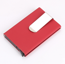 Load image into Gallery viewer, RFID Blocking high quality Card Wallet with money clip