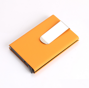 RFID Blocking high quality Card Wallet with money clip
