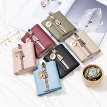 Load image into Gallery viewer, High Quality Short Women PU Leather Cute Bowknot Design Coin Zipper Wallet - OLF-1054
