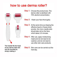 Load image into Gallery viewer, 4 In 1 Derma Roller Set Stainless Micro Needles With Travel Case