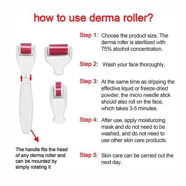 4 In 1 Derma Roller Set Stainless Micro Needles With Travel Case - TUZZUT Qatar Online Store