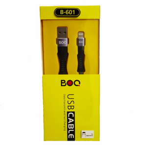 BOQ USB Cable for iPhone B-601- Data transmit and Fast Charging