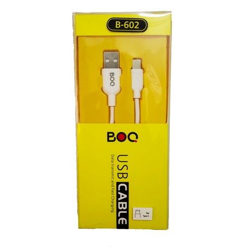 BOQ USB Cable Type-C - Data transmit and Fast Charging B-602