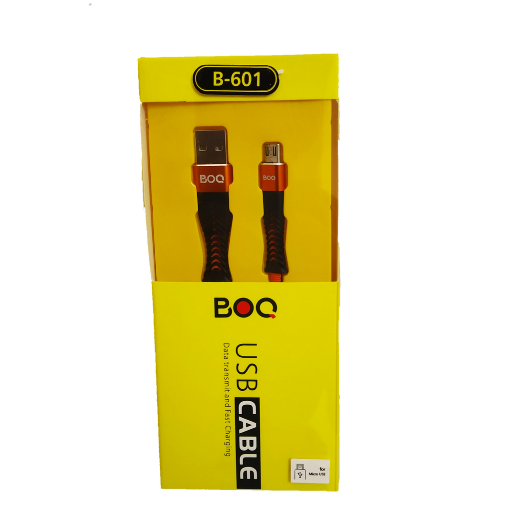 BOQ Micro USB Cable  B-601- Data transmit and Fast Charging - TUZZUT Qatar Online Store