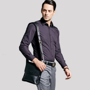 VICUNA POLO Leather Men Messenger Business Leather Shoulder Bag - TUZZUT Qatar Online Store