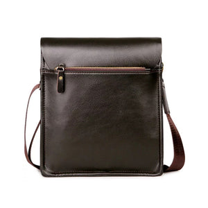 VICUNA POLO Leather Men Messenger Business Leather Shoulder Bag - Brown
