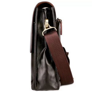 VICUNA POLO Leather Men Messenger Business Leather Shoulder Bag - Brown - TUZZUT Qatar Online Store