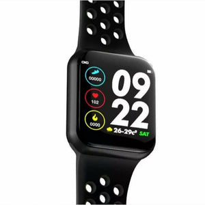 F9 Sports Smart Watch Full Touchscreen Bluetooth Music Control Heart Rate Monitor Sleep Tracker Support IOS Android - TUZZUT Qatar Online Store