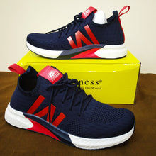 Load image into Gallery viewer, Fitness Fashion Breathable Sports Sneakers Men Shoes - Model Y-7221 (Navy Blue) - TUZZUT Qatar Online Store