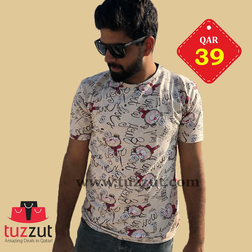 Stylish T-Shirt for Men - T204 - TUZZUT Qatar Online Store