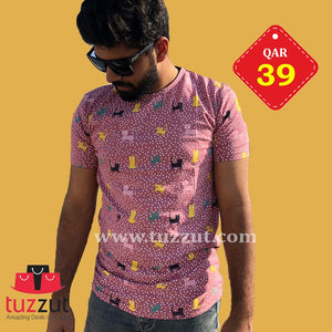Stylish T-Shirt for Men - T203 - TUZZUT Qatar Online Store