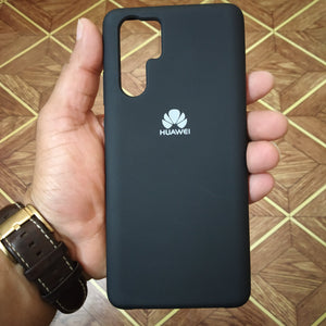 Huawei P30 Pro Silicon Cover - Silky and soft-touch finish - Black