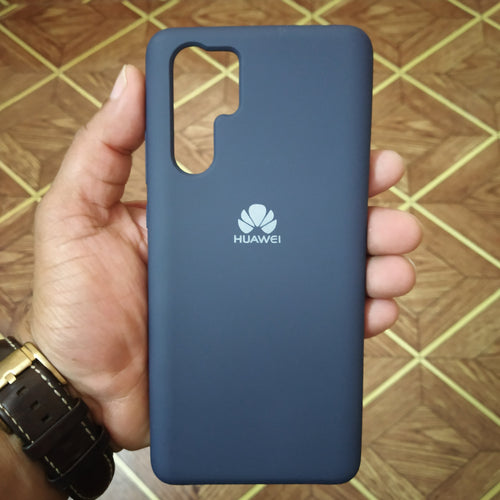 Huawei P30 Pro Silicon Cover - Silky and soft-touch finish - Blue - TUZZUT Qatar Online Store