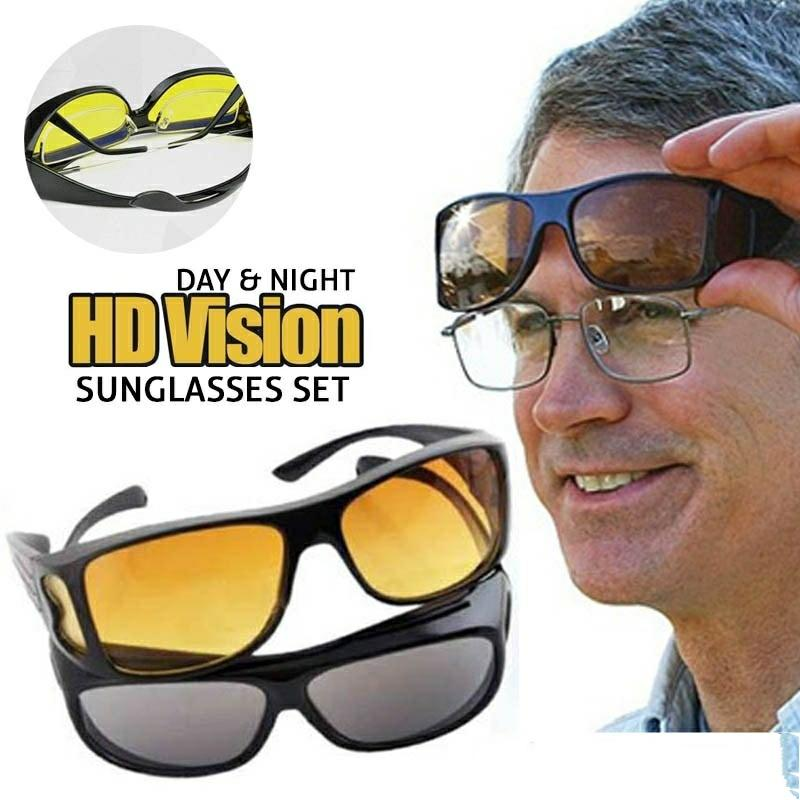 HD Vision Day & Night Wrap Around Glasses