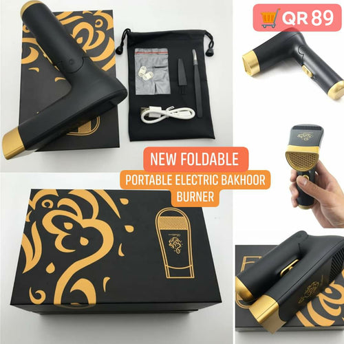 New Foldable and Portable Incense Bakhoor Burner Electric Bakhoor Dukhoon - TUZZUT Qatar Online Store