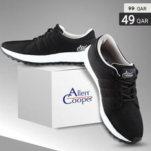 Load image into Gallery viewer, Allen Cooper Sports Shoes - Black & Grey - TUZZUT Qatar Online Store