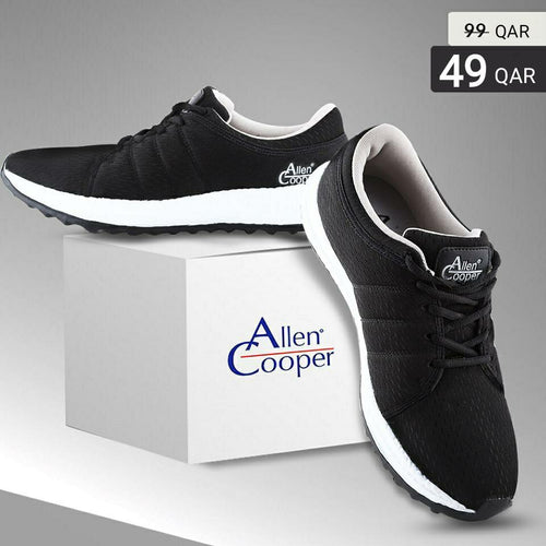 Allen Cooper Sports Shoes - Black & Grey - TUZZUT Qatar Online Store
