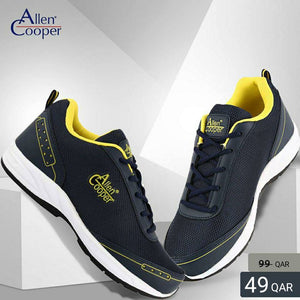 Allen Cooper Sports Shoes - Navy & Yellow - TUZZUT Qatar Online Store