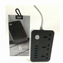 Load image into Gallery viewer, LUCKY HAWK LH-T21 5V 3.4A 3 International Power Socket 6 USB Port