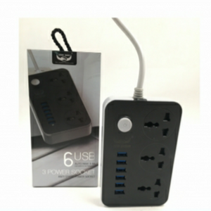 LUCKY HAWK LH-T21 5V 3.4A 3 International Power Socket 6 USB Port
