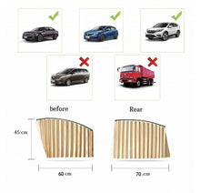 Load image into Gallery viewer, 2 Pair Universal Sunshade UV Sunshade Magnetic installation Visor Window Car Curtain - TUZZUT Qatar Online Store