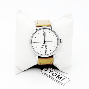 TOMI Brand New Fashion Luxury Elegant Man Watch Beige color
