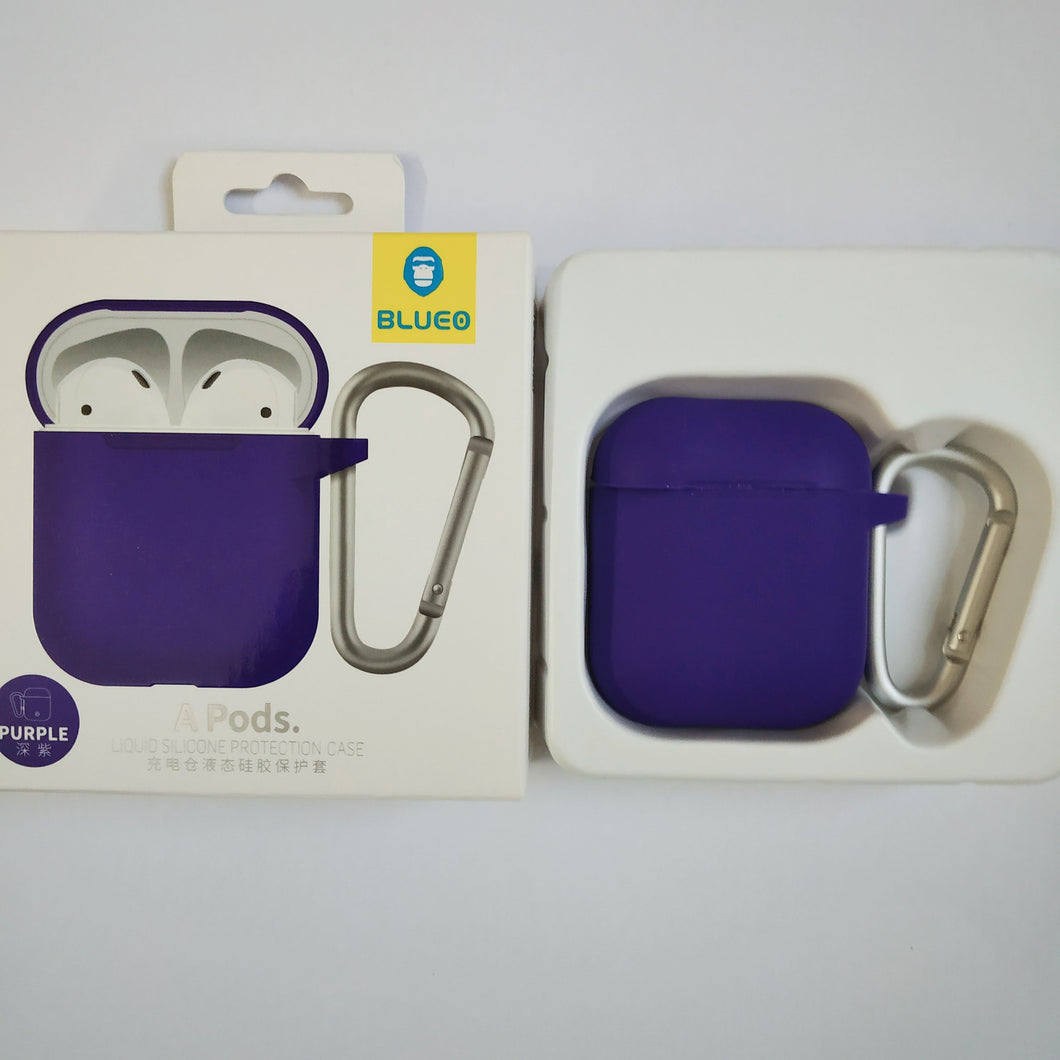 BLUEO Liquid Silicone Protection Case For Airpods - Purple - TUZZUT Qatar Online Store