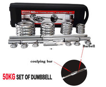 Load image into Gallery viewer, York 50kgs Chrome Barbell Set with Dumbbell Bars & Case - TUZZUT Qatar Online Store