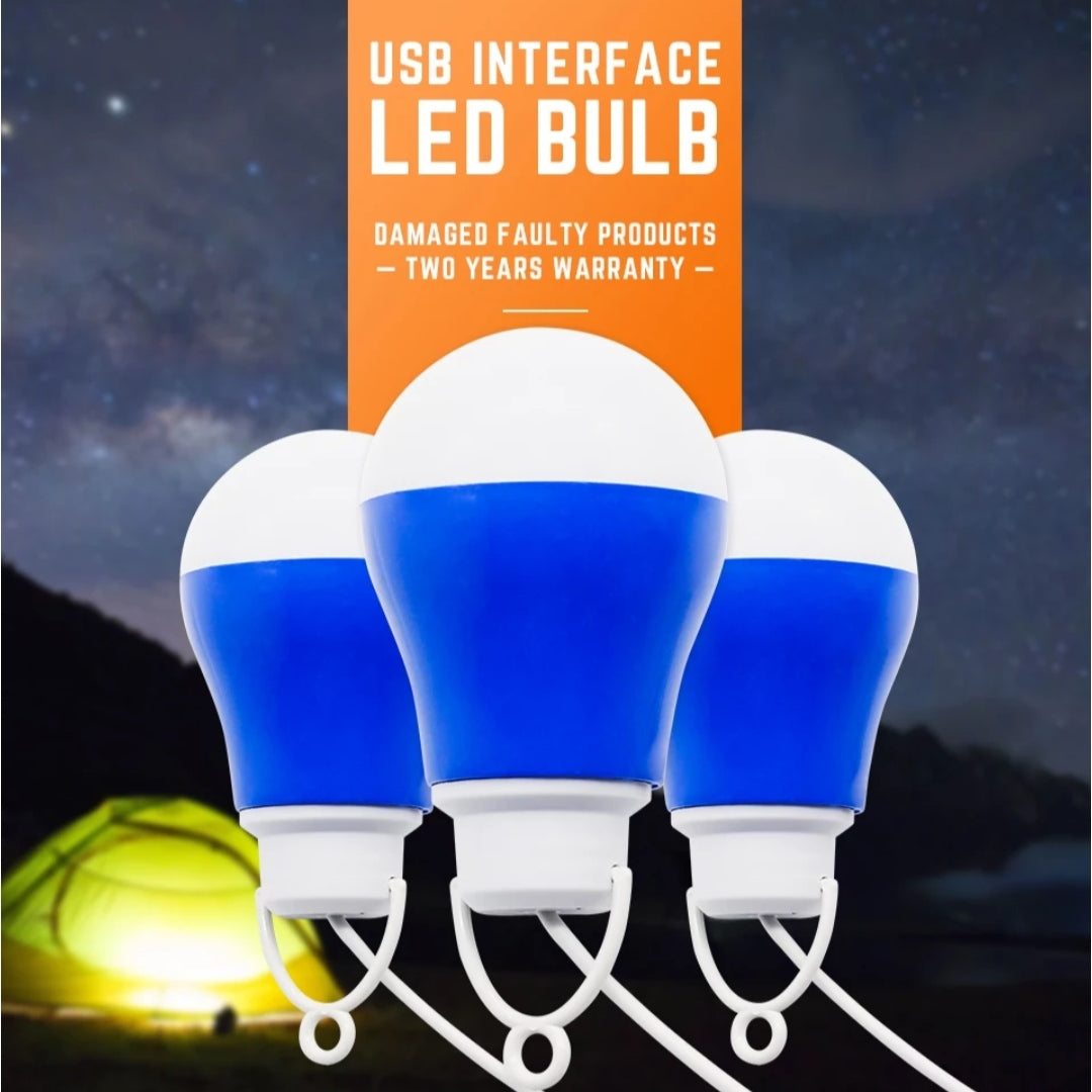 Led Usb Light Bulb Outdoor Emergency Lights 5v 5w With Hook Outdoor Li Tuzzut Qatar Online Shopping