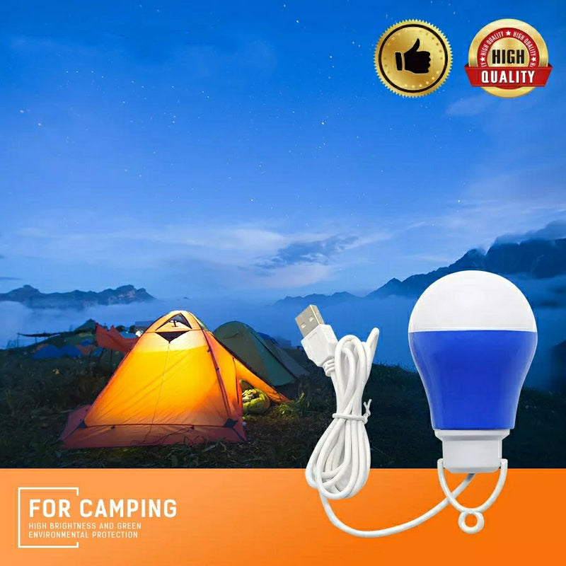 LED USB Light Bulb Outdoor Emergency Lights 5V 5W With Hook Outdoor Light Hiking Camping Fishing Travel Lighting- Assorted Colors - TUZZUT Qatar Online Store