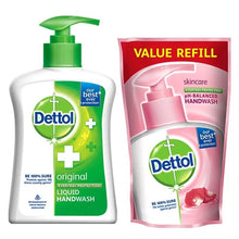 Load image into Gallery viewer, Dettol Sensitive Handwash Pump - 200ml + Refill - 175ml - TUZZUT Qatar Online Store