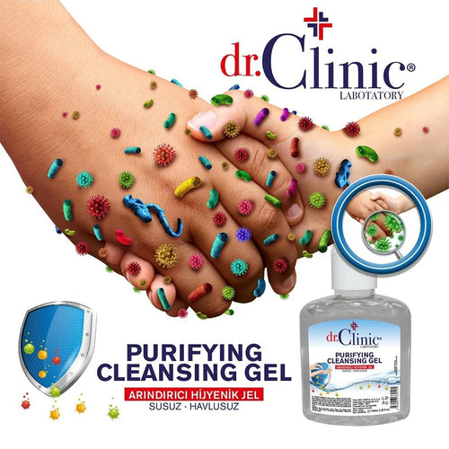Dr. Clinic Antibacterial Hand Sanitizer Cleaning Gel - 100ml - TUZZUT Qatar Online Store