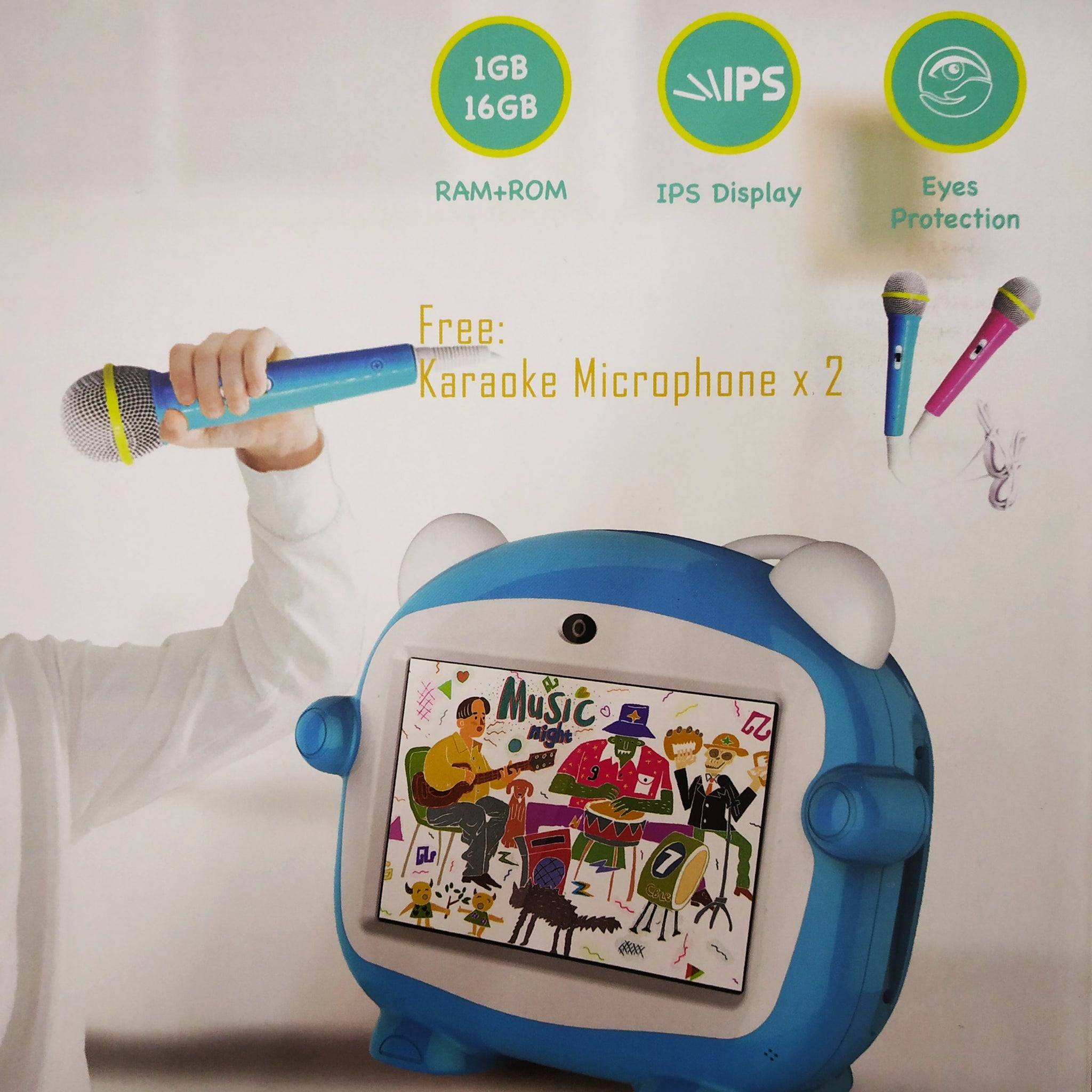 G-Tab G-2 Kids Learning Tablets with Free 2 Karaoke Microphone ...