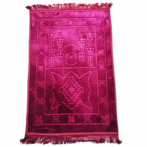 Hamlet Deluxe and Soft 80 x 120cm Prayer Rug Plain Embossed - Assorted Colours - TUZZUT Qatar Online Store