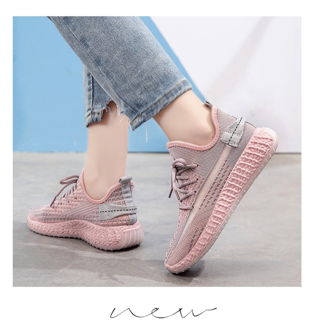 Women's Fashion Breathable Shoes Sneakers - Model 1908 (Pink) - TUZZUT Qatar Online Store
