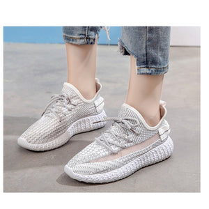 Women's Fashion Breathable Shoes Sneakers - Model 1908 (White) - TUZZUT Qatar Online Store