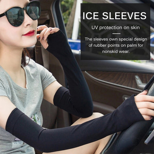 1 Pair UV Protection Arm Ice Sleeve Sunscreen for Driving Cycling - TUZZUT Qatar Online Store
