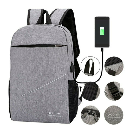 Korean Fashion Joy Start Ipad Laptop Bag with USB Charging Port 18 inch Backpack - TUZZUT Qatar Online Store