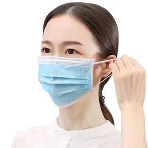 50 Pcs Disposable Face Masks- 3-Ply Breathable & Comfortable Filter - TUZZUT Qatar Online Store