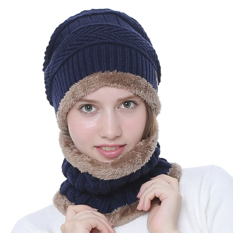 Winter Hat with Neck Warmer (Skullies & Beanies) For Men and Women - TUZZUT Qatar Online Store